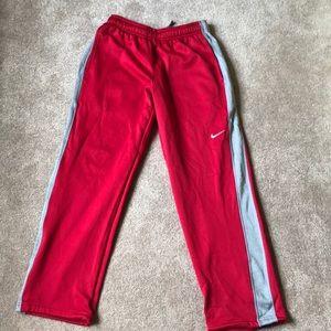 Men's red bike sweatpants